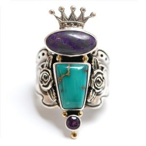 Adjustable Crown Ring by Kit Carson