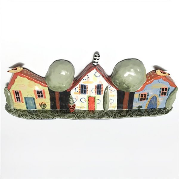 Red Roof House Hanging by Nancy Gardner