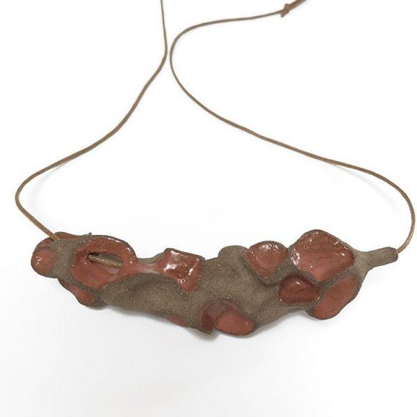 "Terracotta ""Pinchy"" Pendant by Roksana Pirouzmand"