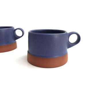 clay copen low cup mugs