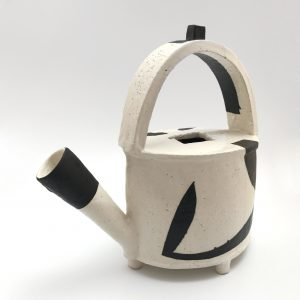 Black and White Pouring Pot