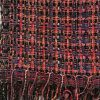 Handwoven Scarf in Pink, Black and Yellow