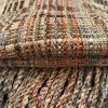 Handwoven Scarf in Orange, Browns and Black